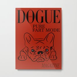 DOGUE MAGAZINE Pure Fart Mode Edt Red Metal Print