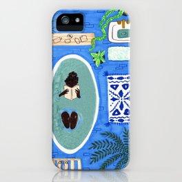 Blue Tiled Bath by Amanda Laurel Atkins iPhone Case