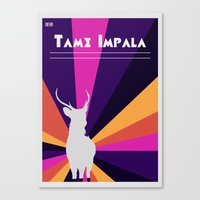 tame impala Canvas Prints featuring Tame Lsd by OEVB