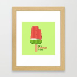It's Summer Time Popsicle Framed Art Print