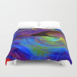 Vulture Escaping From Hell Duvet Cover