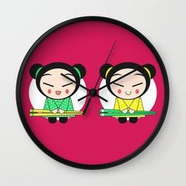 Funny Japanese Girls Wall Clock