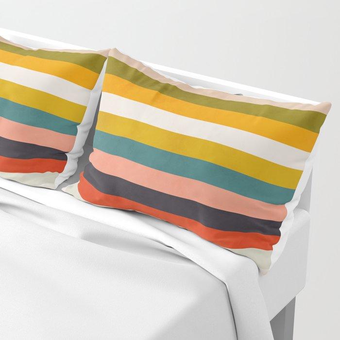 modern abstract stripe geometric Pillow Sham