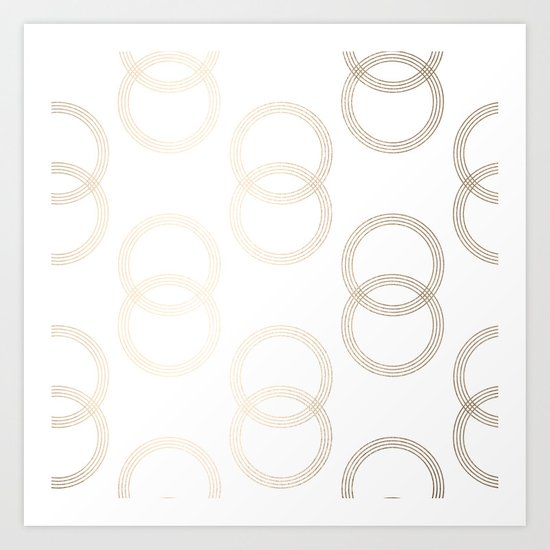 Simply Infinity Link in White Gold Sands on White Art Print