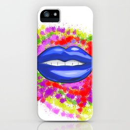 Blue Lips iPhone Case