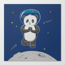 Astro yoga panda Canvas Print