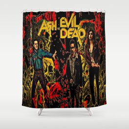 Ash Faces Many Evils Shower Curtain