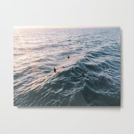 Into the Surf and Sun Metal Print