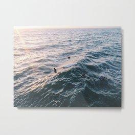 Into the Surf and Sun Metal Print