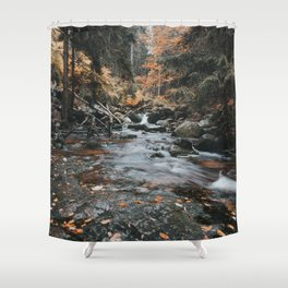 Autumn Creek - Landscape and Nature Photography Shower Curtain
