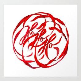 Ho Ho Ho Art Print