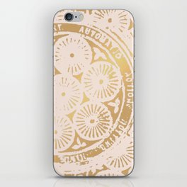 power of one: pink gold iPhone Skin