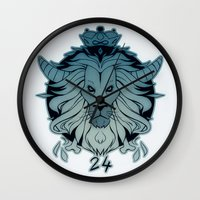 leo Wall Clocks featuring leo by andrahilde
