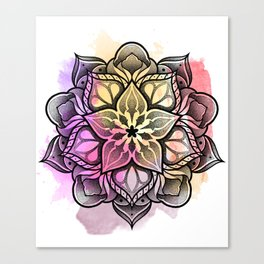 Watecolor Mandala Canvas Print