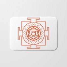 Sri Yantra Sacral Chakra Bath Mat