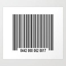 Barcode #1 Art Print