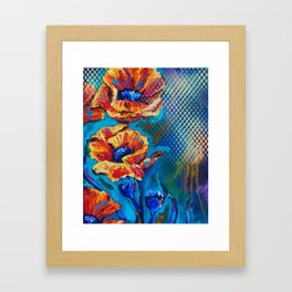 Colorful poppies Framed Art Print