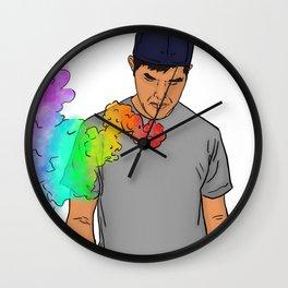 Rainbow Blitz Wall Clock