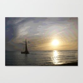 Chasing Sunsets in Hawaii Canvas Print