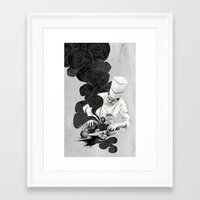 chef Framed Art Prints featuring Galactic Chef by Kyle Cobban