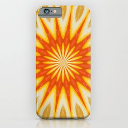 Simply Citrus  Lemon Slices Floral Pattern Kaleidoscope iPhone Case