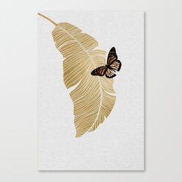 Butterfly & Palm Canvas Print