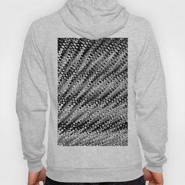 Colour Through Pattern Black and White Hoody