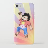 steven universe iPhone & iPod Cases featuring STEVEN UNIVERSE by DROIDMONKEY