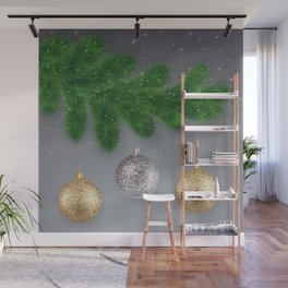 Christmas background Wall Mural