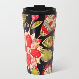 Blooms Butterflies and Ladybugs Travel Mug