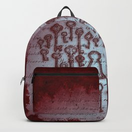 Key Heart Red Backpack
