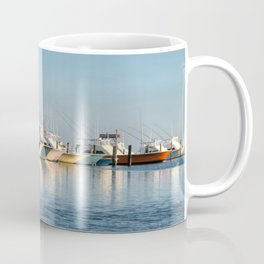 Outer Banks, Oregon Inlet Fishing Center, Fishing Boats Back Home for the Evening, OBX, NC Coffee Mug