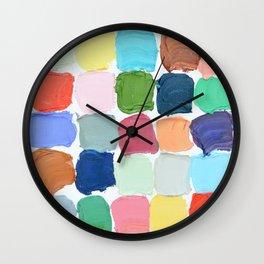 Polka Daub Grid Wall Clock