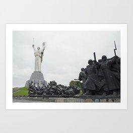 Kiev, Ukraine, Motherland Statue Art Print