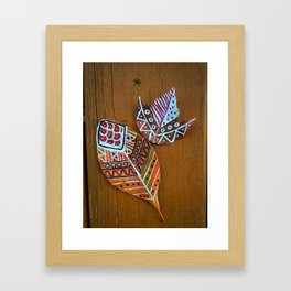 Fall Leaves Framed Art Print