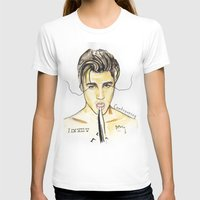 justin timberlake T-shirts featuring JUSTIN by CARLOS CASANOVA