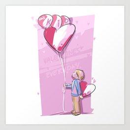 This Kid Loves Valentine's Day Everyday Art Print