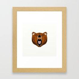 Geometric Bear - Abstract, Animal Design Framed Art Print