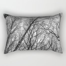 Black and white branches Rectangular Pillow