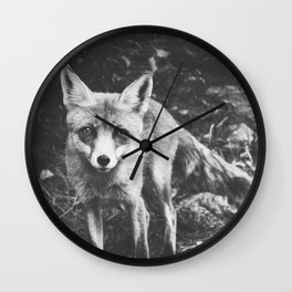 HELLO FOX III Wall Clock