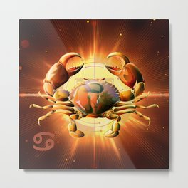 Horoscope Signs-Cancer Metal Print