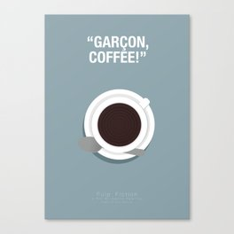 Garçon, Coffee! - Pulp Fiction Fanart Poster 2 Canvas Print