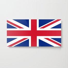 flag of uk- London,united kingdom,england,english,british,great britain,Glasgow,scotland,wales Metal Print