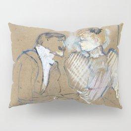 """Henri de Toulouse-Lautrec """"Lucien Guitry et Jeanne Grânier"""" Pillow Sham"""