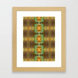 Bohemian mint and brown pattern Framed Art Print