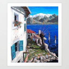 Lago d'Iseo Art Print