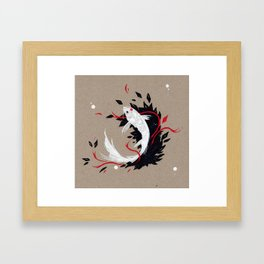 KOI RIBBON Framed Art Print