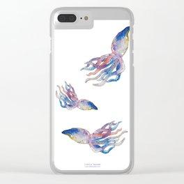 Squid Splash Clear iPhone Case