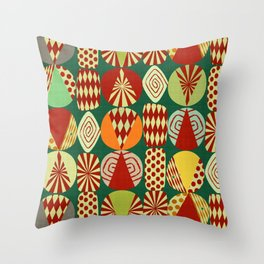 Christmas tree Minimalist green Throw Pillow
