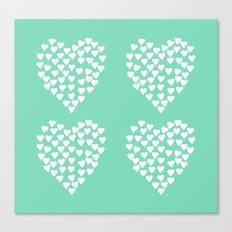 Hearts Heart x2 Mint Canvas Print